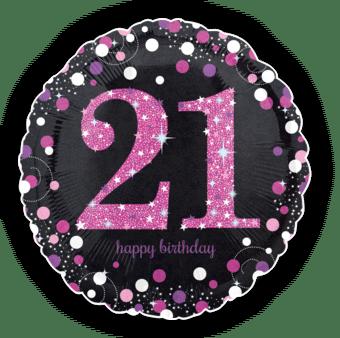 Pink Glimmer Confetti 21st