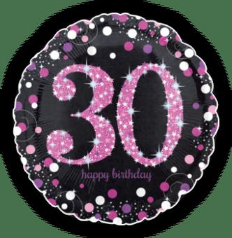 Pink Glimmer Confetti 30th Birthday