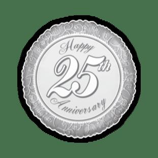 Happy 25th Anniverary Silvers Balloon