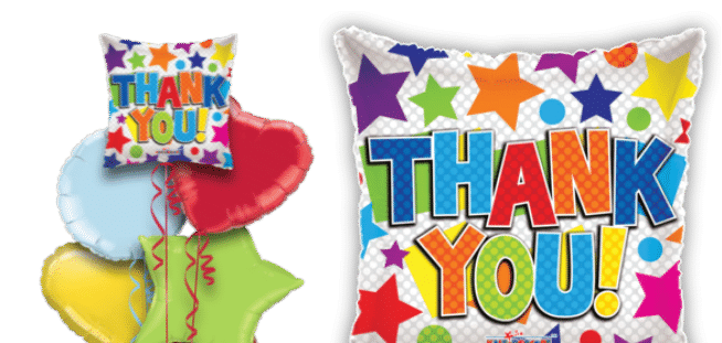 Thank You Bright Stars Balloon