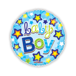 Baby Boy Stars Balloon