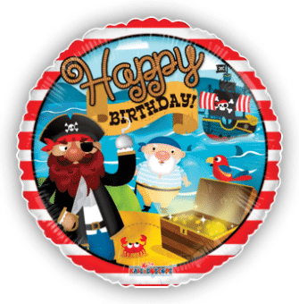 Birthday Pirate Treasure Stripes