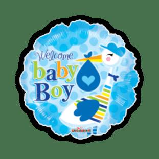 Baby Boy Stork Balloon