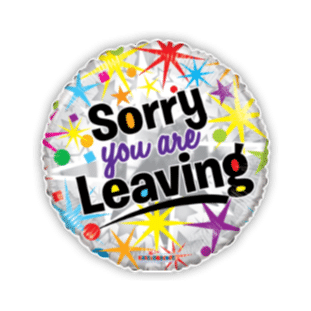 Sorry You Are Leaving Star Burst Balloon