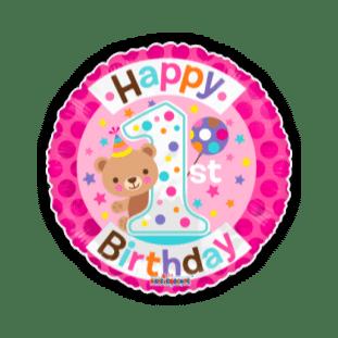 Cute 1st Birthday Girl Balloon