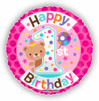 Cute 1st Birthday Girl