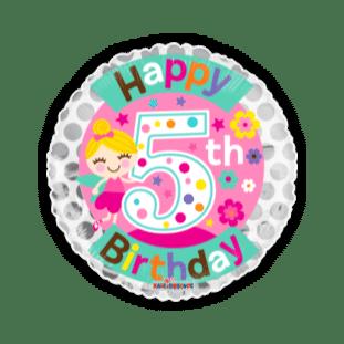 Fairy 5th Birthday Girl Balloon