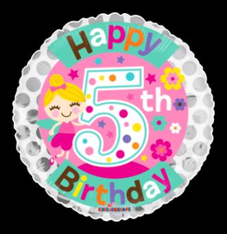 Fairy 5th Birthday Girl
