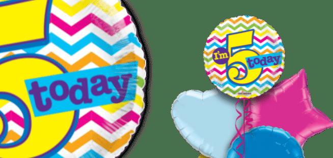 Im 5 Today  5th Birthday Balloon