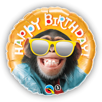 Chimp Smiling Birthday