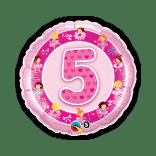 Birthday Girl 5th Balloon