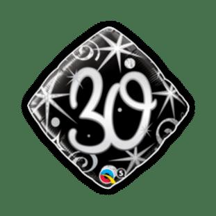 30th Birthday Diamond Stars Balloon