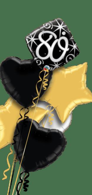 80th Birthday Diamond Stars Balloon