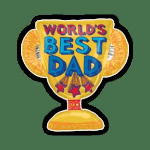 Best Dad Trophy Balloon
