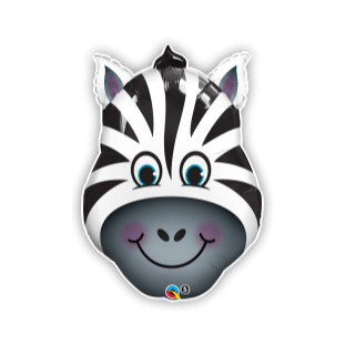 Zebra Head Balloon