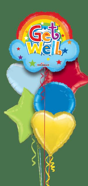 Get Well Soon Rainbow Shape Balloon