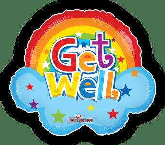 Get Well Soon Rainbow Shape