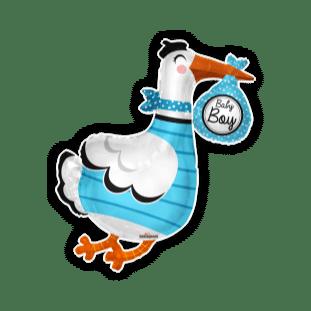 Baby Boy Stork Shape Balloon