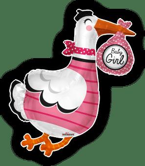 Baby Girl Stork Shape