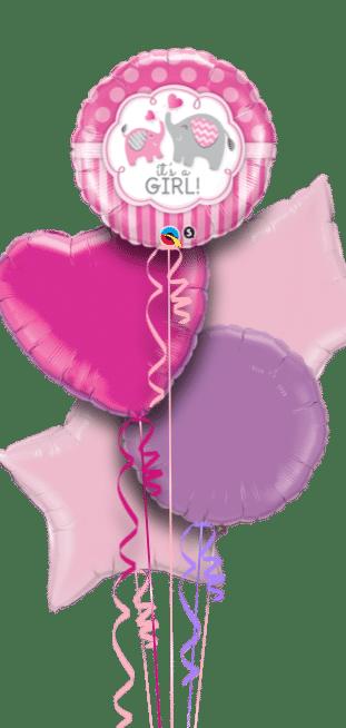 Its a Girl Elephants Balloon