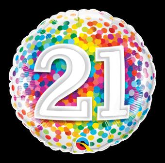 21st Rainbow Confetti