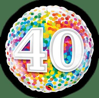 40th Rainbow Confetti