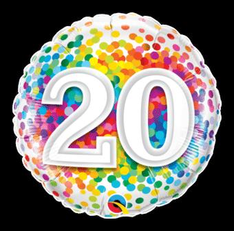 20th Birthday Confetti