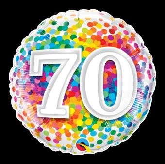 70th Rainbow Confetti