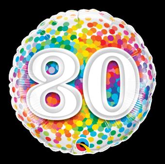 80th Rainbow Confetti