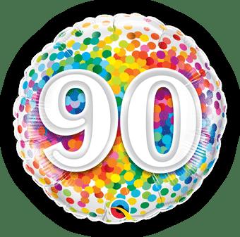 90th Rainbow Confetti
