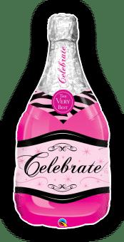 Pink Champagne Bottle Balloon