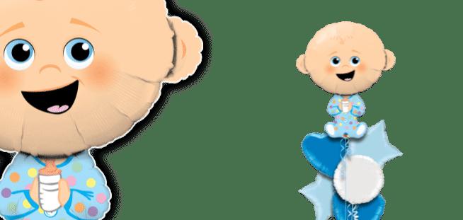 Cute Baby Boy Lighter Skin Tone Balloon