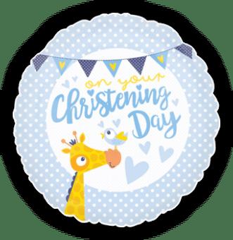 Boy Christening Giraffe