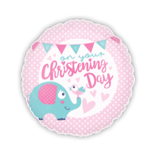 Girl Christening Elephant Balloon