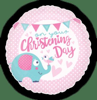 Girl Christening Elephant