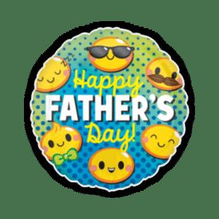 Fathers Day Happy Emoji Balloon