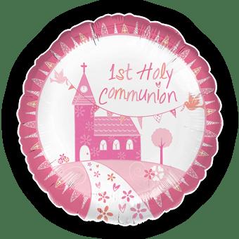 1st Holy Communion Pink Balloon