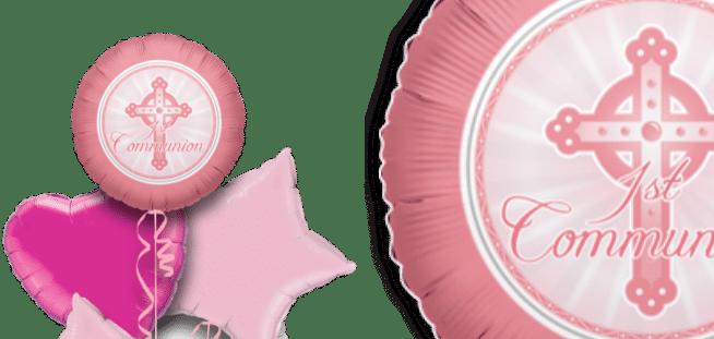 1st Communion Pink Balloon