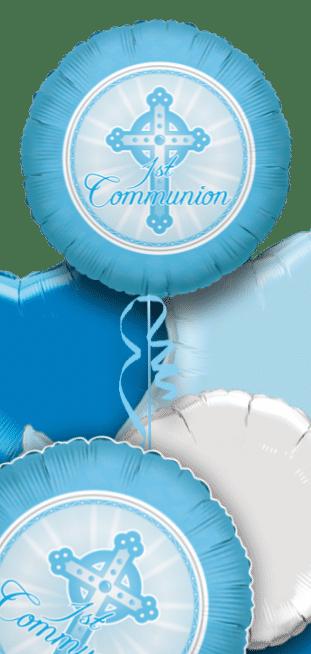 1st Communion Blue Balloon