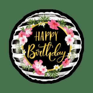 Happy Birthday Hibiscus Balloon