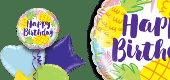 Birthday Pineapple Print Balloon