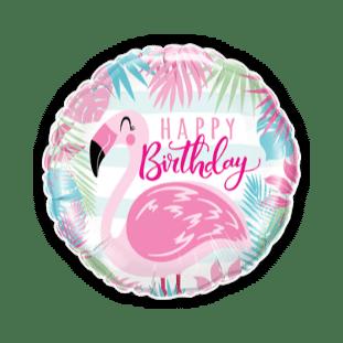 Happy Birthday Flamingo Balloon