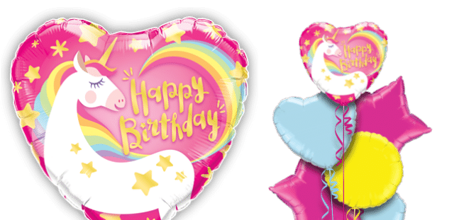 Happy Birthday Magical Unicorn Balloon