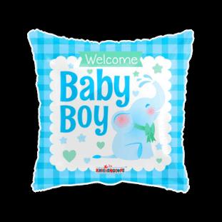 Elephant Welcome Baby Boy Balloon