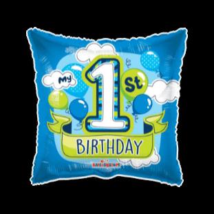 My 1st Birthday Blue Balloon