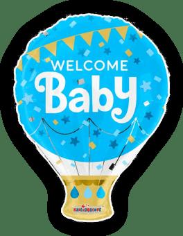 Welcome Baby Boy Hot Air Balloon