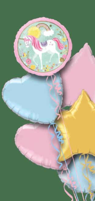 Magical Unicorn Rainbows and Flowers Balloon