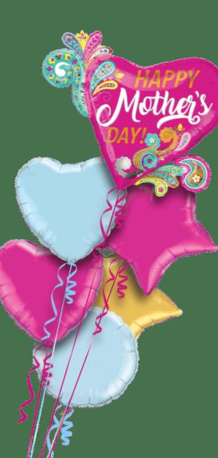 Mothers Day Paisley Swirls Balloon