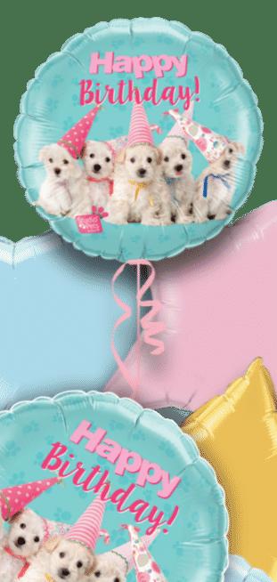 Birthday Puppies Balloon