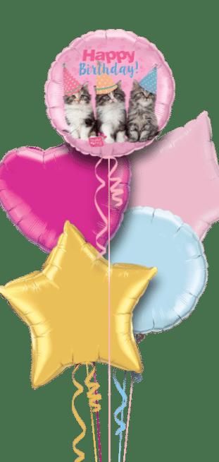 Birthday Kittens Balloon